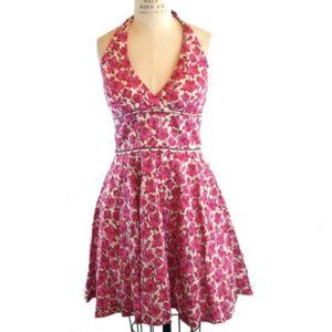 Lilly Pulitzer Willa halter dress pink red size 2
